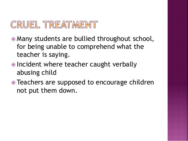 ž Most children get bullied throughout school    because of their physical disabilityž This causes low self esteem amo...