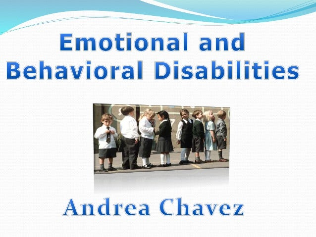 Emotional and behavioral disorders are characterized by behavioral or emotional responses in school programs so different ...