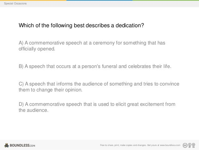 Dedication Speech Examples – PDF