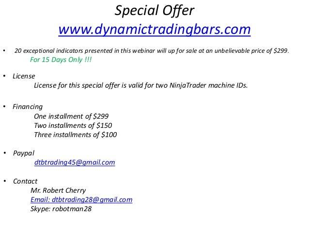Special offer - DTB Webinar - 20 Exclusive Ninjatrader Indicators for…