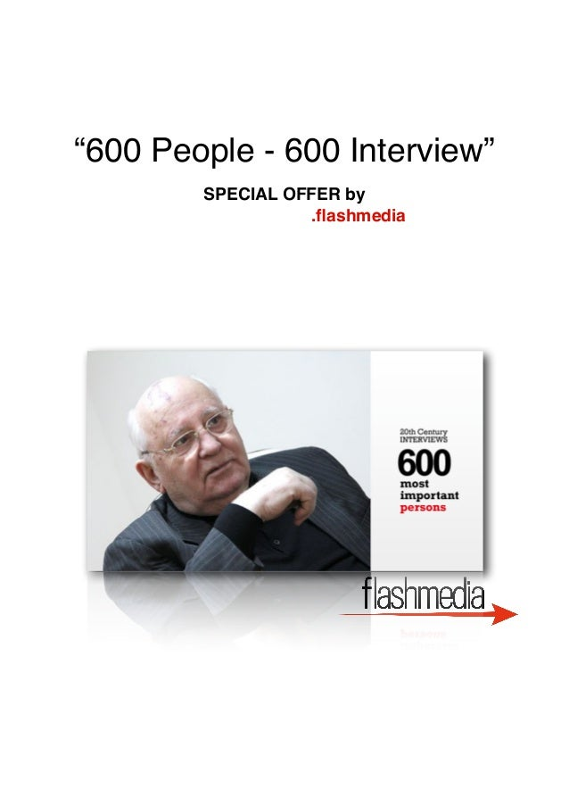 """600 People - 600 Interview"" SPECIAL OFFER by .flashmedia"
