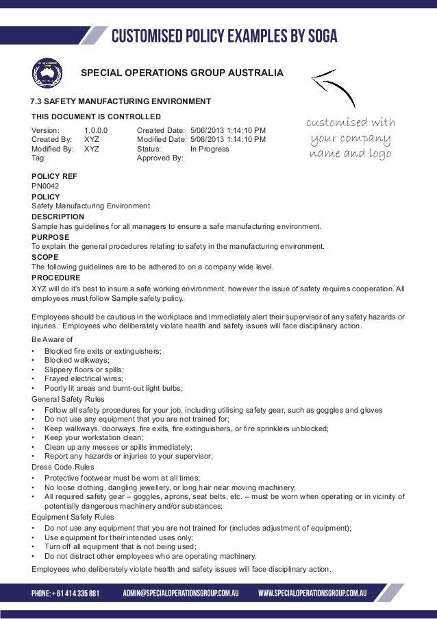 Dress code policy workplace australia