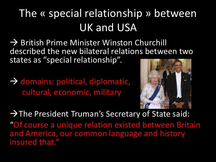 england and america special relationship that is true