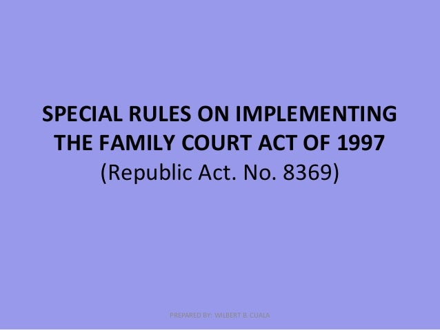 family courts act of 1997
