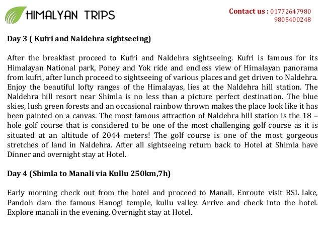Special shimla manali honeymoon package Slide 2