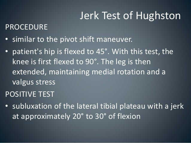 Special Tests - Knee