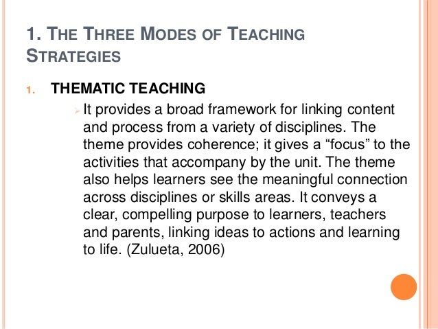 Integrative Teaching Strategies Its