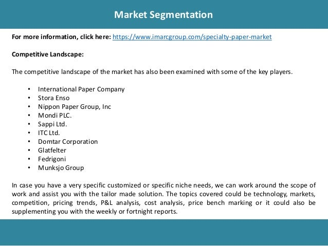 Specialty Paper Market Report, Market Share, Size, Trends