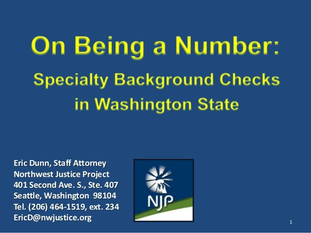 Eric Dunn, Staff AttorneyNorthwest Justice Project401 Second Ave. S., Ste. 407Seattle, Washington 98104Tel. (206) 464-1519...