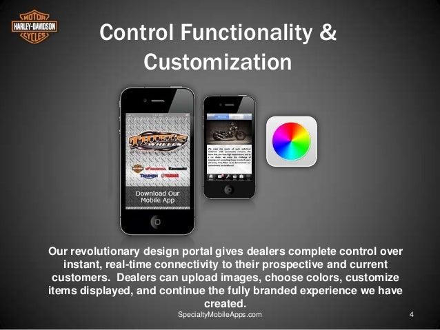specialty mobile apps for harley davidson