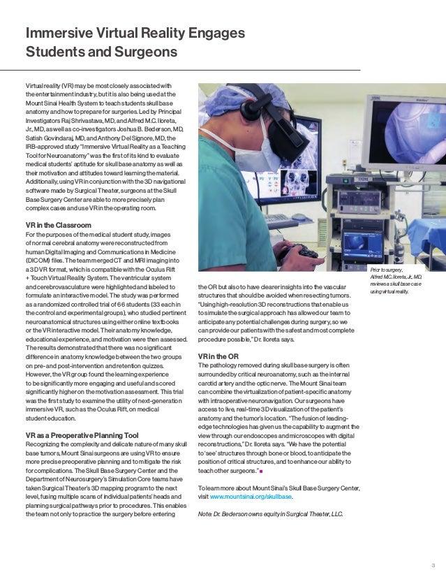 Mount Sinai Otolaryngology Specialty Report 2018