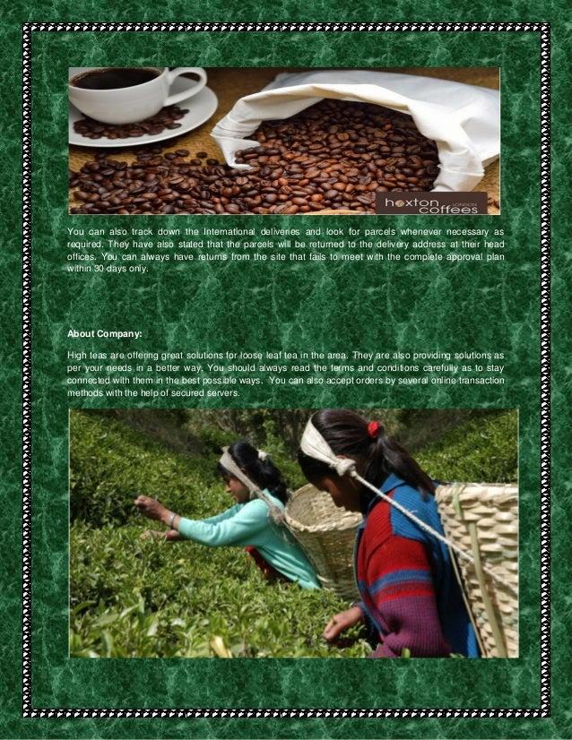 Specialty tea Slide 2