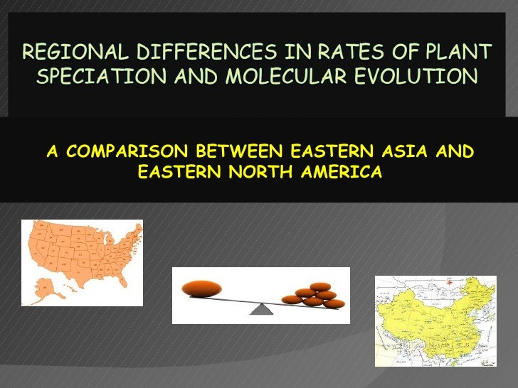 A COMPARISON BETWEEN EASTERN ASIA AND        EASTERN NORTH AMERICA