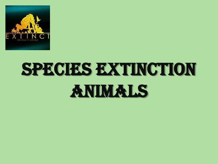 Species extinction- animals Slide 3