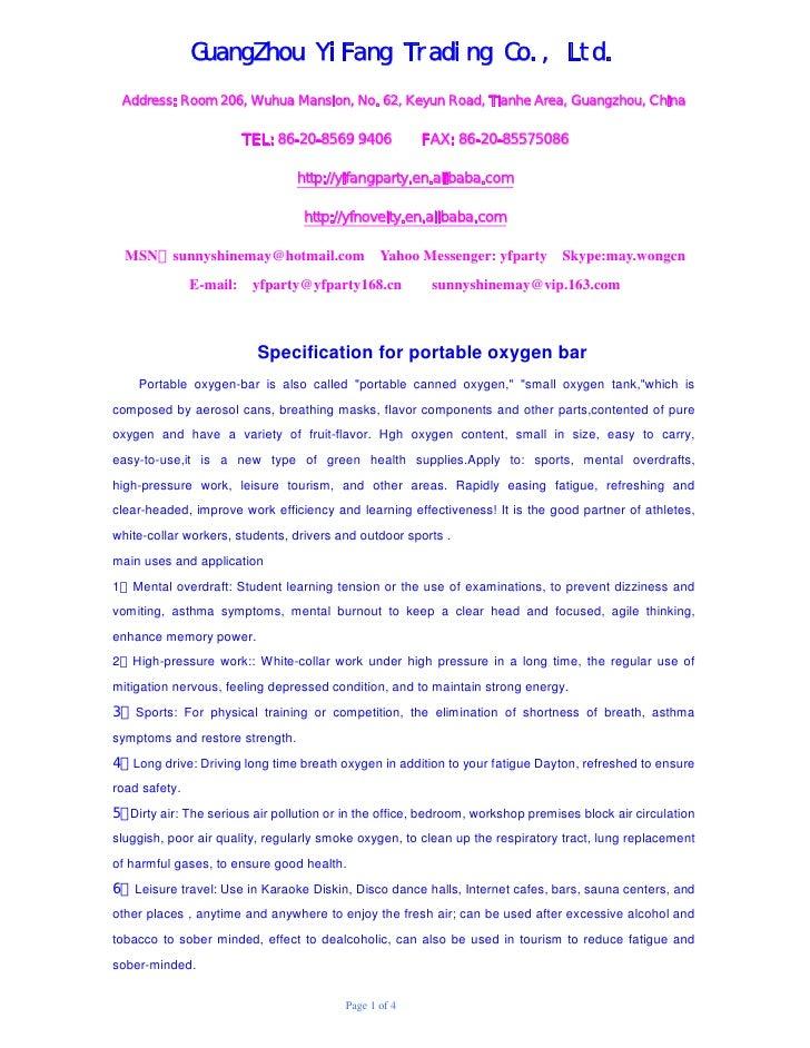 GuangZhou YiFang Trading Co., Ltd. Address: Room 206, Wuhua Mansion, No. 62, Keyun Road, Tianhe Area, Guangzhou, China    ...