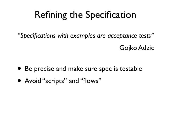 gojko adzic specification by example pdf