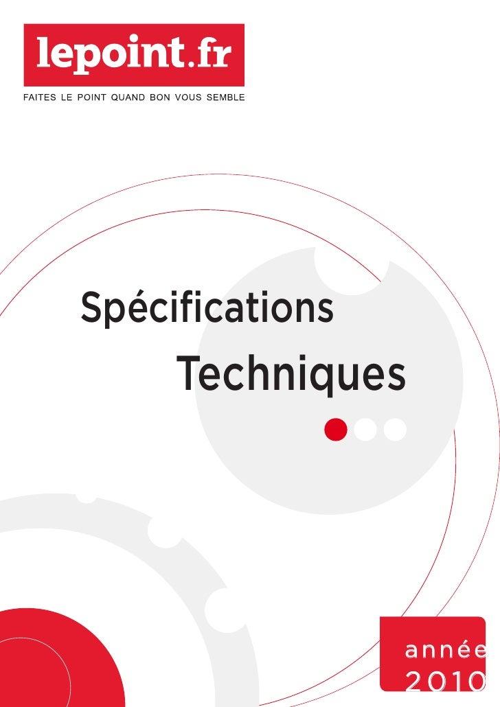 Spécifications      Techniques                      année                  2010