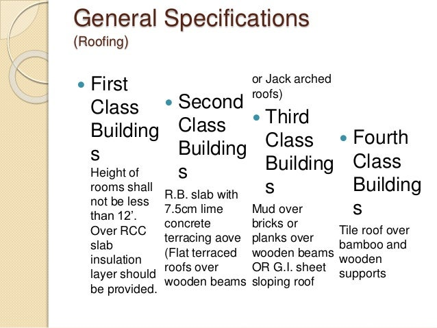 ... 10. General Specifications (Roofing)  First Class ...