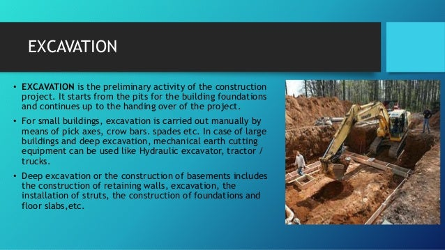 Specifications Of Excavation And Foundation