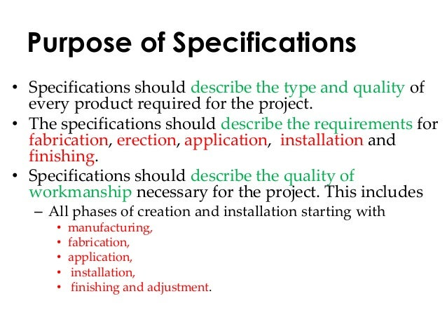 Building Design Specification Example