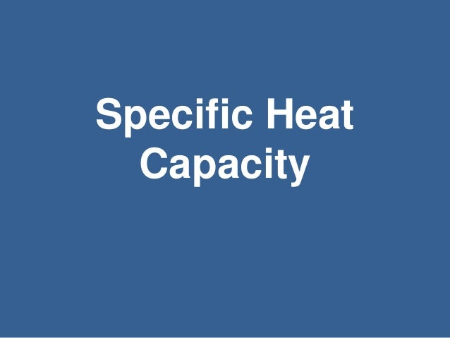 how to find the heat capacity of