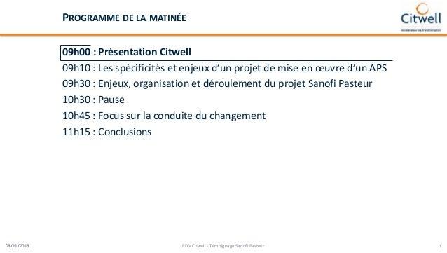 Spécificités et enjeux d'un projet de mise en œuvre d'un aps Slide 2