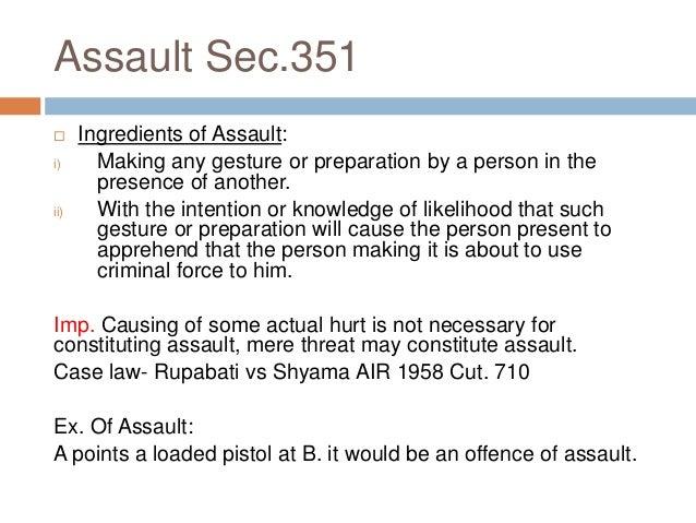 physical assault ipc
