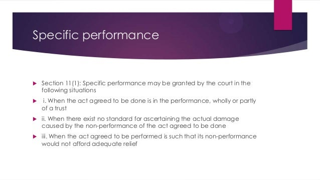 specific performance Reproduced with permission of the author companion publication presented at 12 pace international law review (spring 2000) 1-46 the remedies of specific performance.