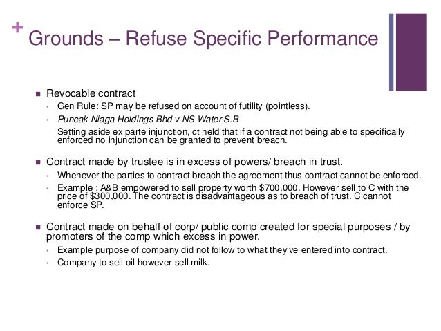 enforce specific performance