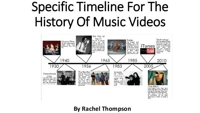 Specific Timeline For The History Of Music Videos By Rachel Thompson