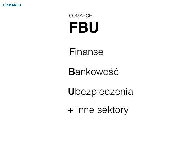 COMARCH FBU Finanse Bankowość Ubezpieczenia + inne sektory