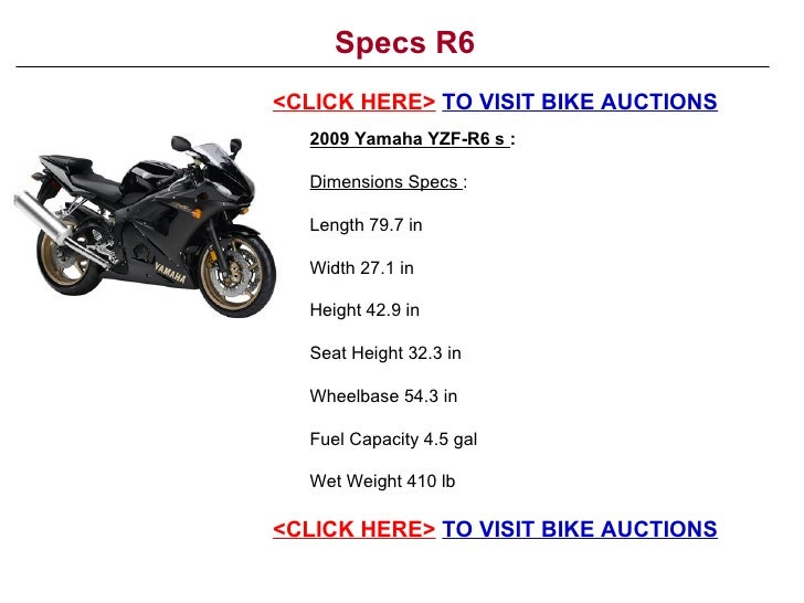 Yamaha R Tire Size