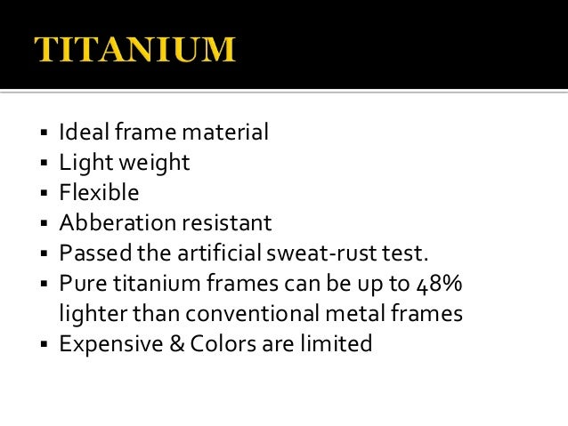 6 ideal frame material