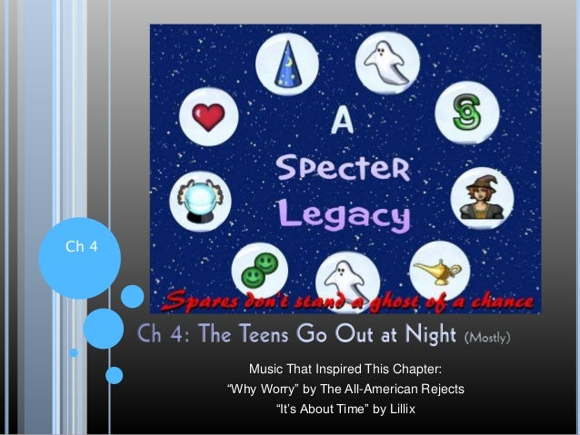 """Ch 4 Music That Inspired This Chapter: """"Why Worry"""" by The All-American Rejects """"It's About Time"""" by Lillix"""