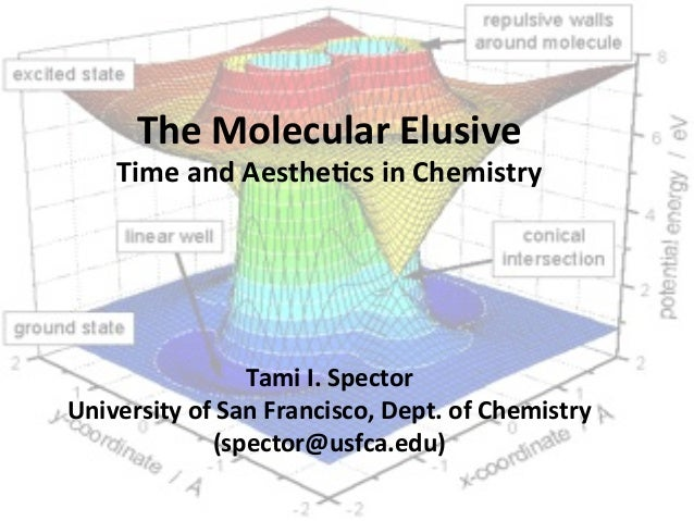 The$Molecular$Elusive$ Time$and$Aesthe5cs$in$Chemistry$ $ $ $ $ $ Tami$I.$Spector$ University$of$San$Francisco,$Dept.$of$C...