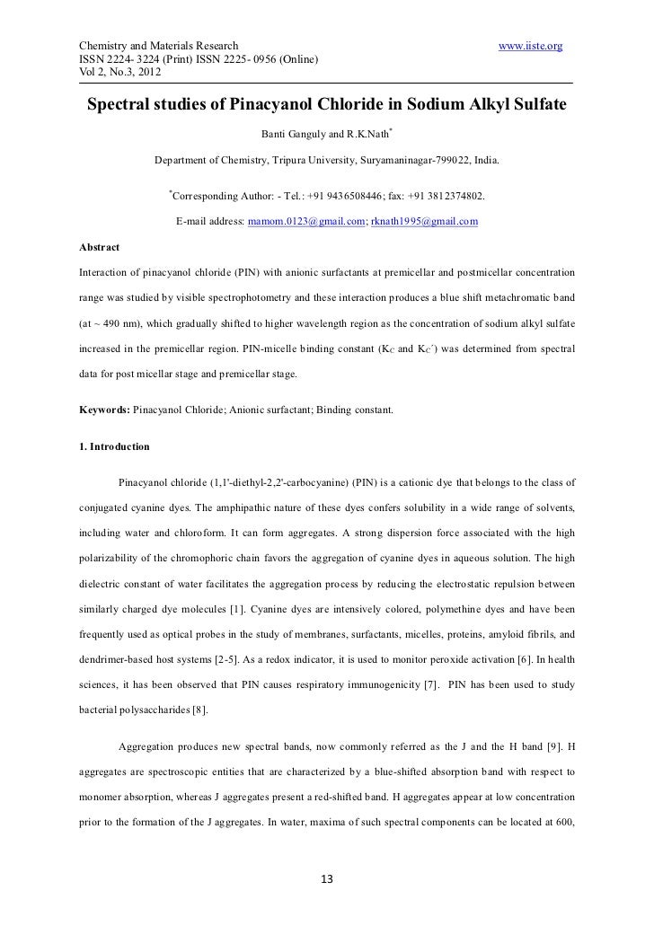 Chemistry and Materials Research                                                                www.iiste.orgISSN 2224- 32...