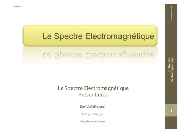 Le Spectre Electromagnétique   Le  Spectre  Electromagnétique   Présentation   LeSpectre Electromagnétique 1 Dav...