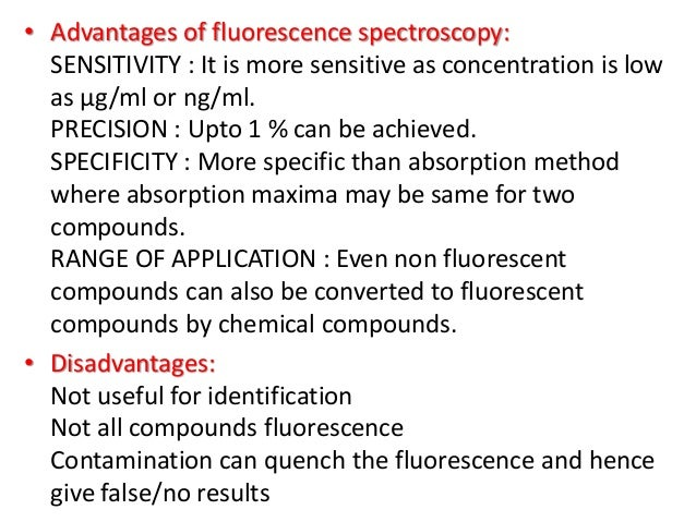 Fluorescent indicators • Intensity and colour of the fluorescence of many substances depend upon the pH of solutions. The...