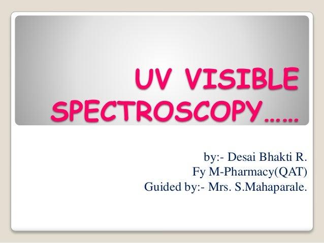 UV Spectroscopy Introduction