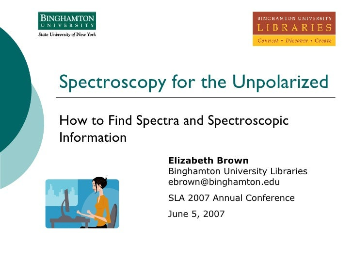 Spectroscopy for the Unpolarized How to Find Spectra and Spectroscopic Information  Elizabeth Brown Binghamton University ...