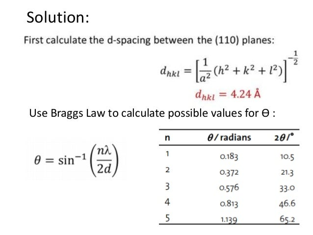 how to calculate hkl values from xrd pdf