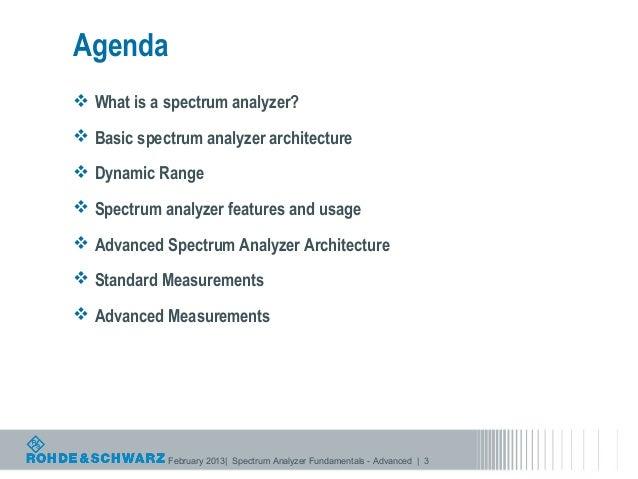 Spectrum Analyzer Fundamentals Advanced Spectrum Analysis