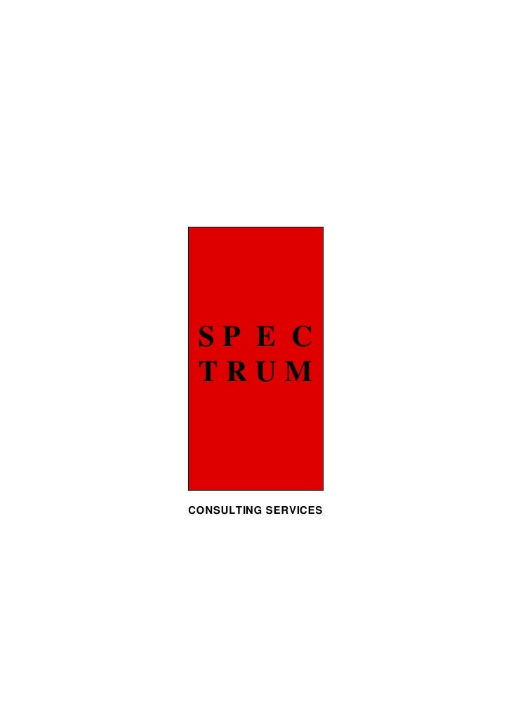 SP E C  TRUM    CONSULTING SERVICES