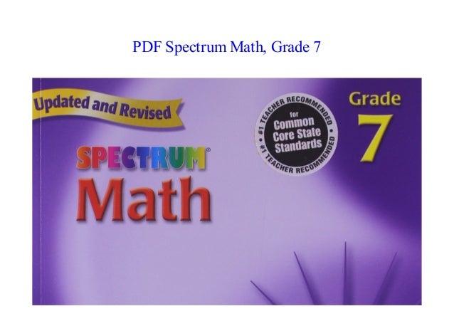 PDF] Spectrum Math, Grade 7 NEW 2018