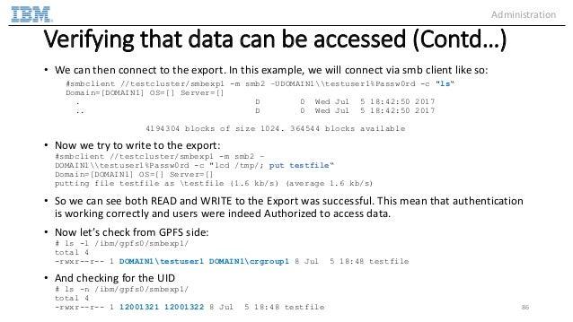 IBM Spectrum Scale Authentication for File Access - Deep Dive