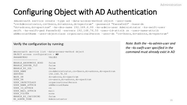 IBM Spectrum Scale Authentication For Object - Deep Dive