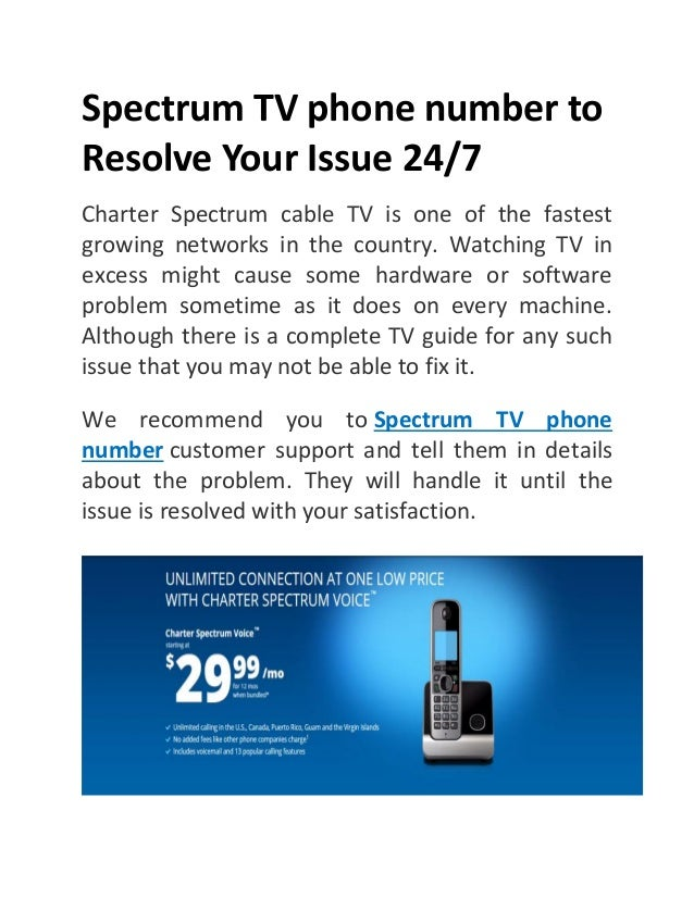 Spectrum Tv Phone Number To Resolve Your Issue 24