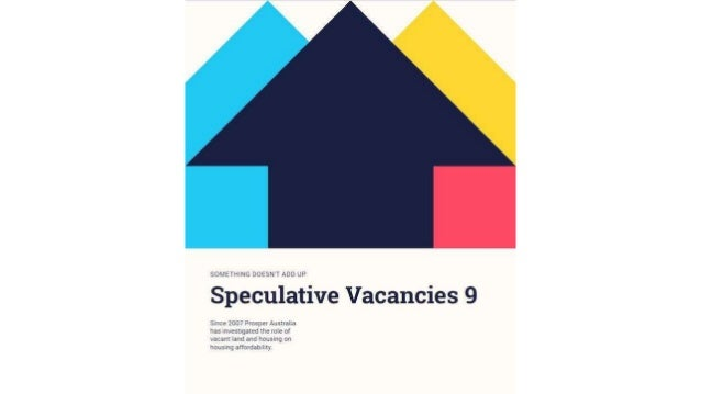 What is a speculative vacancy? ● Property that consumes less than 50 litres per day (LpD) ○ Averaged over 12 months ○ On a...