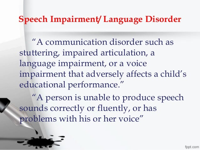 stuttering a speech disorder Stuttering is a speech and language disorder which is characterized by breaks in the flow of speech the speech of a child who stutters may be interrupted by any of the following: whole phrase repetitions: this is when you repeat a phrase of more than one word.
