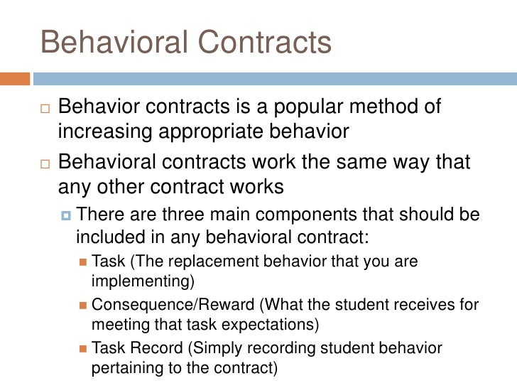 behavioral contracts